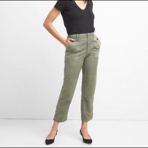Gap High Rise Ankle Length Utility Pants Sz 14